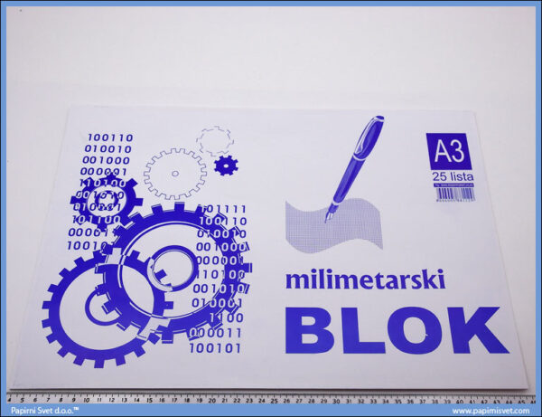 Milimetarski papir blok 1/25 A3