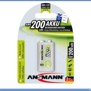 Baterija punjiva 9V 200mAH, Ansmann