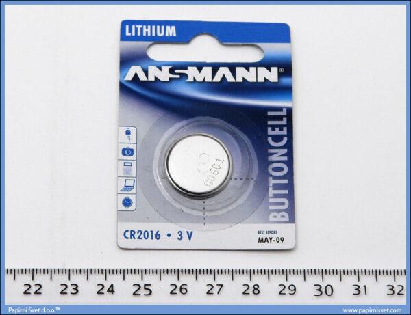 Baterija lithium 3V 2016, Ansmann