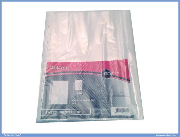 Fascikla U A4 -40 mikrona- providna 1/100, Optima