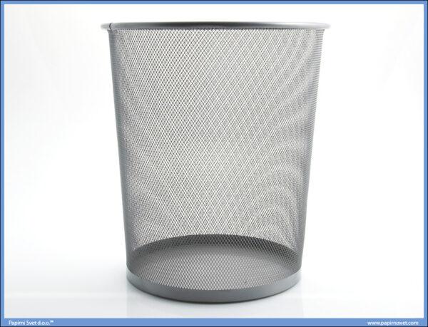 Korpa za smeće mrežasta siva 30L
