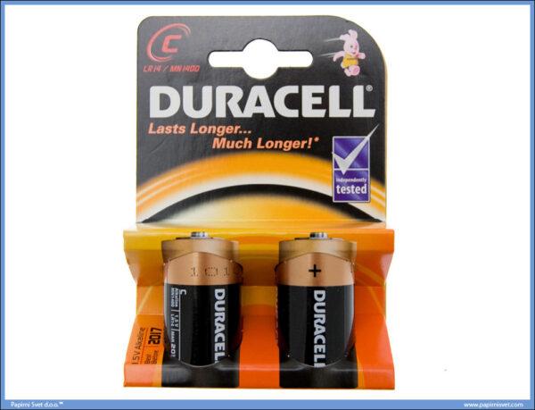 Baterija alkalna LR14 set 1/2, Duracel