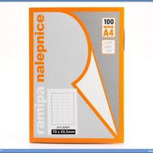 Etikete-nelepnice 70x33,5mm 100 listova, Ramipa
