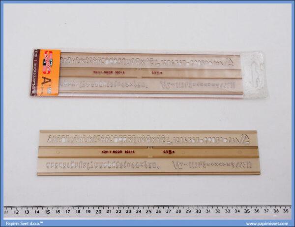 Šabloni slova 5mm, Koh-i-noor