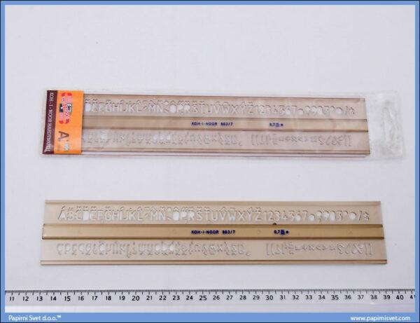 Šabloni slova 7mm, Koh-i-noor