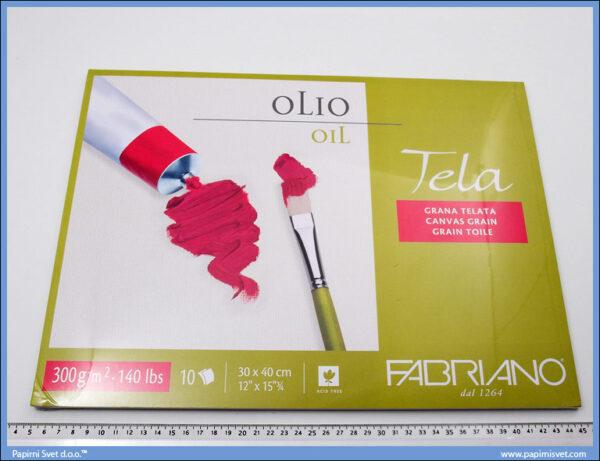 Slikarski blok za ulje i akril 300x400mm 1/10, Fabriano