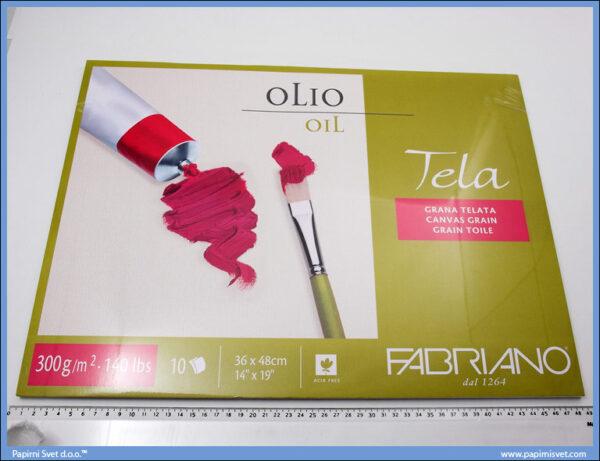 Slikarski blok za ulje i akril 360x480mm 1/10, Fabriano