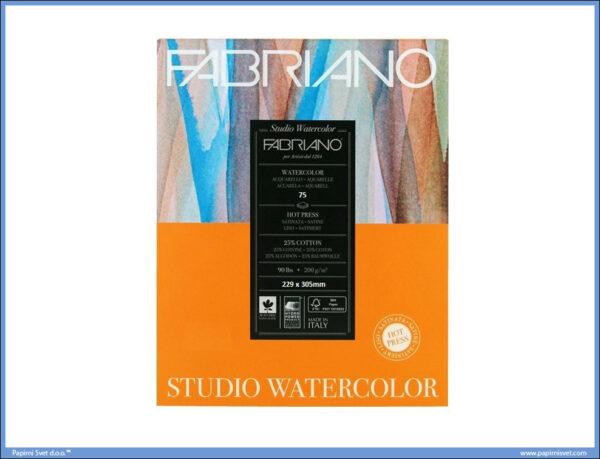 Slikarski blok 200gr 229x305mm ACQUARELLO WATERCOLOUR STUDIO 75 listova FABRIANO