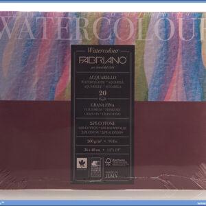 Slikarski blok 200gr 36x48cm WATERCOLOUR 20 listova FABRIANO
