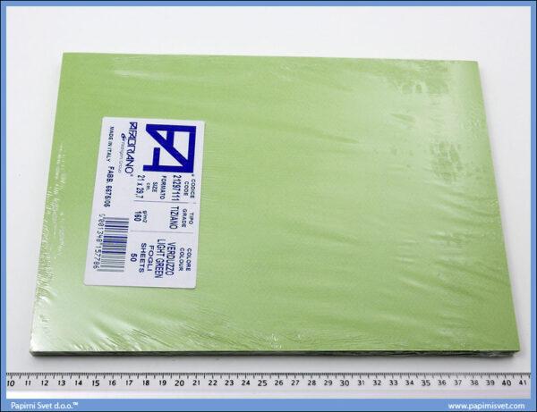 Karton A4 160gr. svetlo zeleni 1/50, Fabriano
