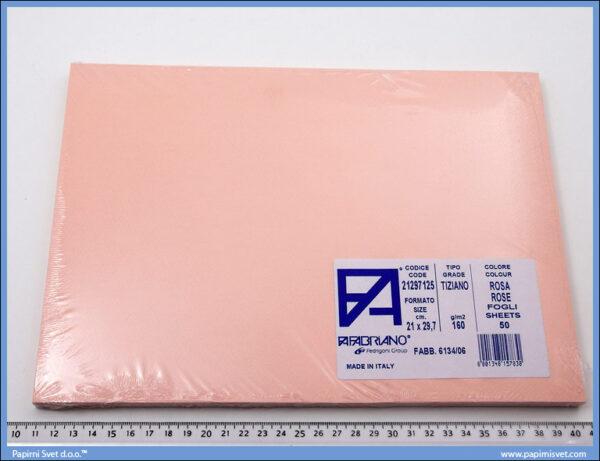 Karton A4 160gr. roze 1/50, Fabriano