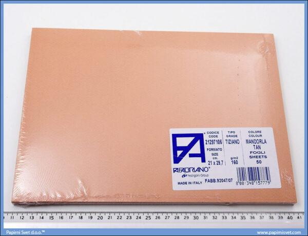Karton A4 160gr. boja kože 1/50, Fabriano
