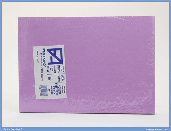 Karton A4 160gr. ljubičasti 1/50, Fabriano