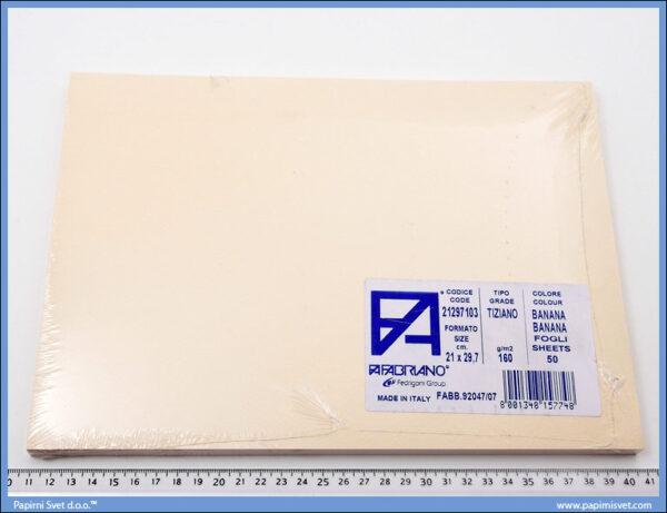 Karton A4 160gr. banana 1/50, Fabriano
