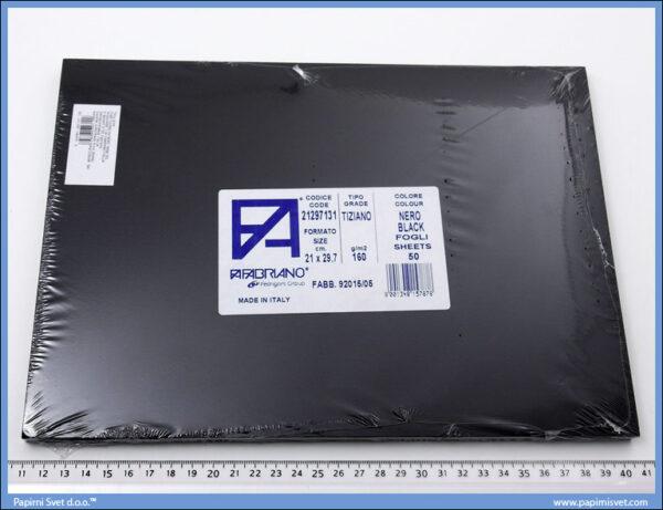 Karton A4 160gr. crni 1/50, Fabriano