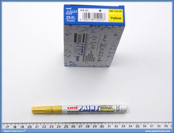 Marker uljani žuti tanji px-21, Uni