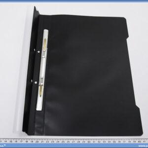 Fascikla sa mehanizmom, crna PVC, Norex