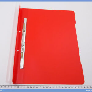 Fascikla sa mehanizmom, crvena PVC, Norex