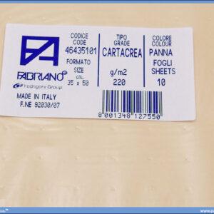 Karton B3 35x50cm krem panna 1/10, Fabriano