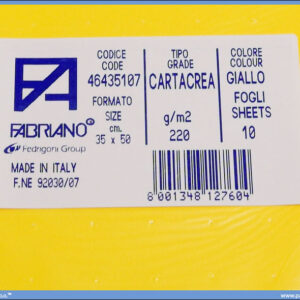 Karton B3 35x50cm žuti giallo 1/10, Fabriano