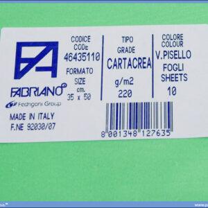 Karton B3 35x50cm zeleni v.pisello 1/10, Fabriano