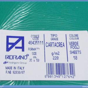 Karton B3 35x50cm zeleni verde 1/10, Fabriano
