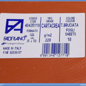 Karton B3 35x50cm braon t.bruciata 1/10, Fabriano
