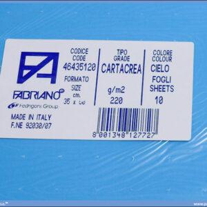 Karton B3 35x50cm svetloplavi cielo 1/10, Fabriano