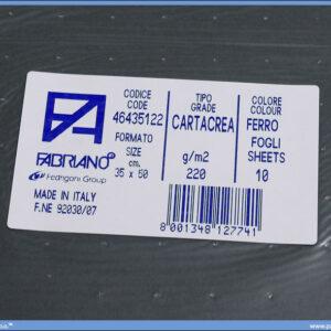 Karton B3 35x50cm tamno sivi ferro 1/10, Fabriano