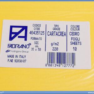 Karton B3 35x50cm žuti cedro 1/10, Fabriano