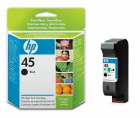 HP No.45 Large Black Inkjet Print Cartridge (42ml) [51645AE]