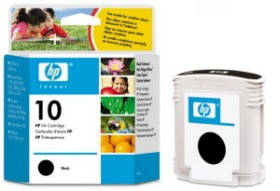 HP No.10 Black Ink Cartridge za ploter 70/500/800/100/110/815mfp/Off.J. Pro K850,Buss.1000 [C4844AE]