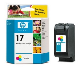 HP No.17 Tri-Colour Inkjet Print Cartridge 15ml) [C6625AE]