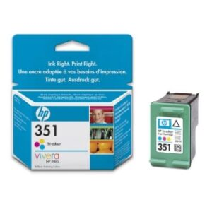 HP No.351 Tri-colour Inkjet Print Cartridge DeskJetD4260,OffjetJ5780,PhotSmC4280,C5280