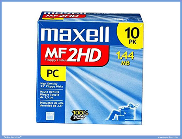 Floppy diskete 2HD Formatted 1,44MB MAXELL