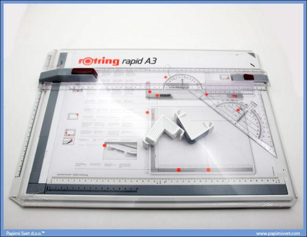Tabla za tehničko crtanje A3 + torba, Rotring 02