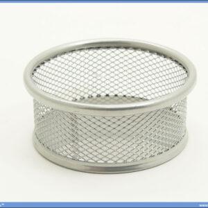 Čaša za spajalice žičana srebrna