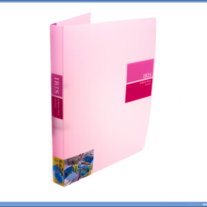 Fascikla RING BINDER sa 2 ringa 20mm TRANSPARENT ROZE, Comix