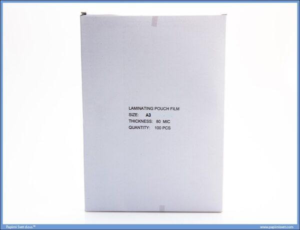 Folija za plastifikaciju A3 80mikrona 1/100 ABC