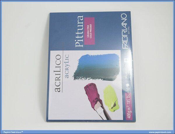 Slikarski blok za akrilne i uljane boje Pittura 30x40cm, Fabriano