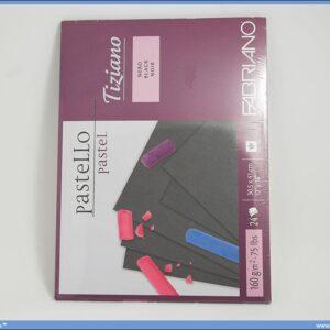 Slikarski blok za pastele 305x410mm 1/24 black Tiziano, Fabriano