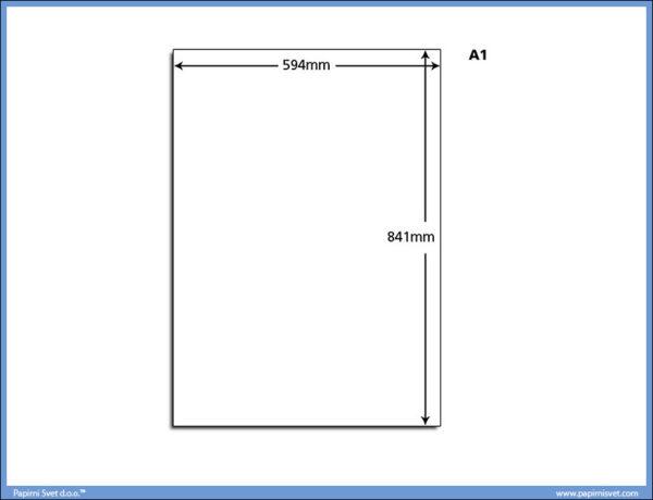 Papir A1 80gr. u tabacima 1/500