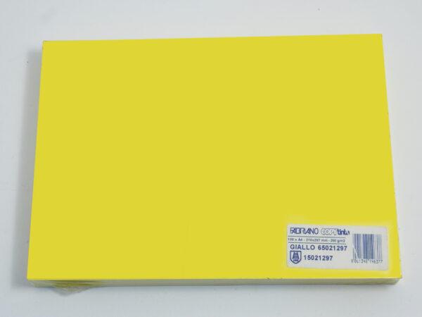 Papir-karton u boji A4 1/100, 200gr ŽUTI/GIALLO, Fabriano