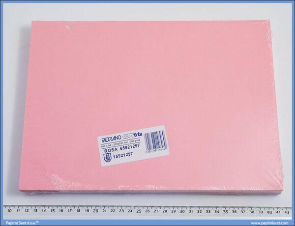 Papir/Karton u boji A4 1/100, 200gr ROSA/ROZE, Fabriano