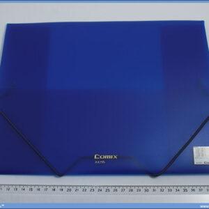 Fascikla A4 plava PVC sa lastišem na uglovima, Comix