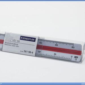 Razmernik lenjir tehnički PVC 1:100-1:500, Stadetler
