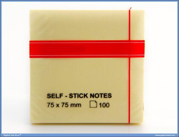 STICKY NOTES samolepljivi blokčić 75x75mm ŽUTI