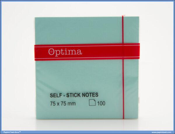 STICKY NOTES samolepljivi blokčić 75x75mm ZELENI