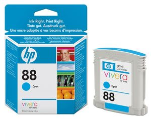 HP C9386AE Cyan Cartridge (HP 88)