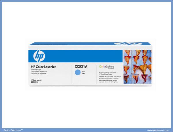 HP toner CC531a plavi
